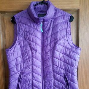 Purple lightweight Puffer vest size large